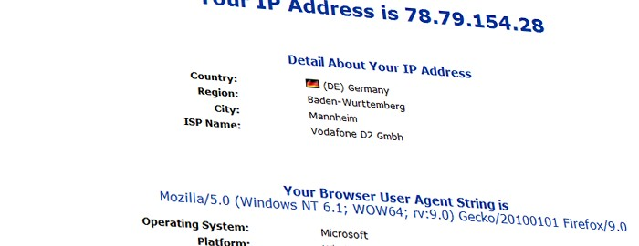 Browserinfos und Betriebssystem auslesen